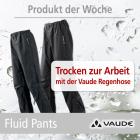 Passend zum nassen Wetter: Vaude Fluid Pants