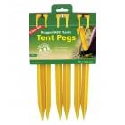 Coghlans Zelthering ABS 30cm, gelb, 6er Pack