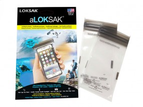 Loksak aLOKSAK wasserdichter Beutel 3x6, 2 Stück (8.58 x 16.2 cm) iPhone
