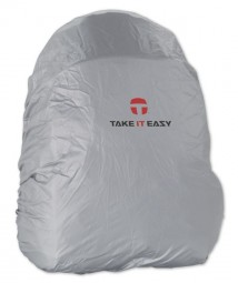 Take It Easy Regenhaube zum Rucksack silber