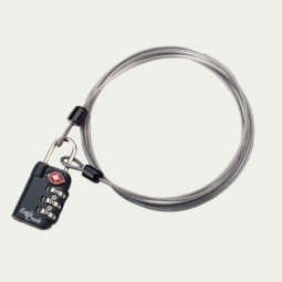 Eagle Creek TSA 3-Dial Lock & Cable graphite