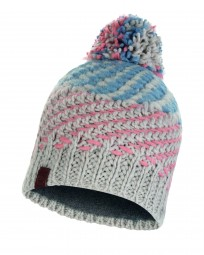 Buff Knitted & Polar Fleece Hat Nella