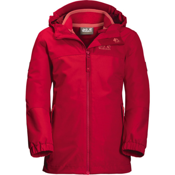Jack Wolfskin Iceland 3in1 Jacket Girls true red 104