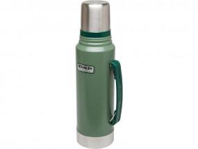 Stanley Classic Vakuum-Flasche, 1 Liter, 18/8 Edelstahl Hammertone grün, Vakuum-Isolation