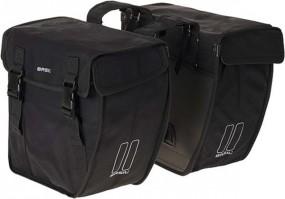 Basil Kavan Rounded XL Doppeltasche schwarz