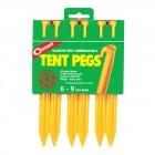 Coghlans Zelthering ABS 22 cm, gelb, 6er Pack