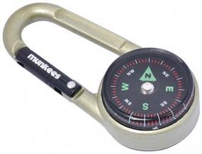 Munkees Karabiner Kompass mit Thermometer