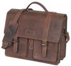 Haberland Leder Einzeltasche EL1400 Schnallenbefestigung darkbrown