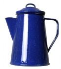 Relags Emaille Kaffeekanne 1,8 Liter, blau, 8 Tassen