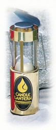UCO Kerzenlaterne Messing poliert