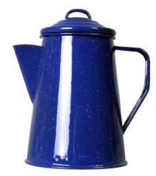 Relags Emaille Kaffeekanne 1 Liter, blau, 6 Tassen