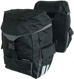 Basil Sports Doppeltasche schwarz mit Raincover