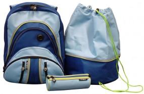 Pataco Schulrucksack-Set blau