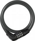 Abus Numerino 5412C/85/12 Kabelschloss mit Halterung black