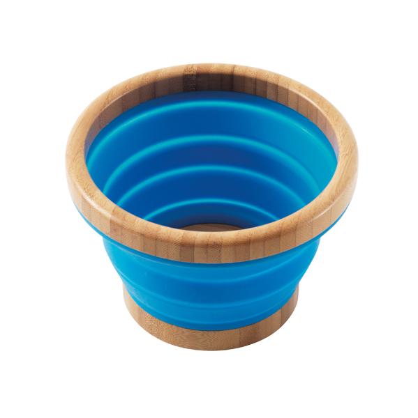 Outwell SchĂĽssel Bambus Collaps blau M