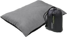 Cocoon Travel Pillow Nylon/Mikrofaserhülle synthetische Füllung 33X43 cm charcoal/smoke grey