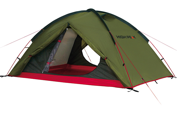 High Peak Woodpecker 3 pesto/rot 3 Personen Zelt