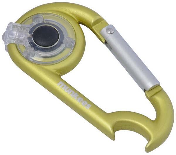- Munkees Karabiner LED mit Flaschenöffner