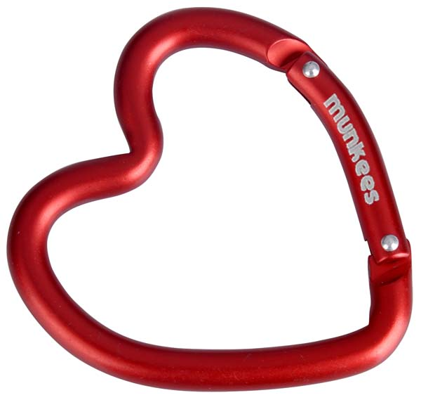 Munkees Karabiner Herzform