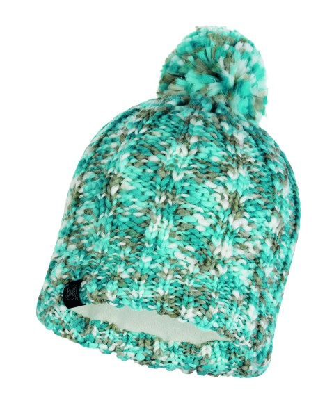 aqua - Buff Knitted und Polar Fleece Hat Livy