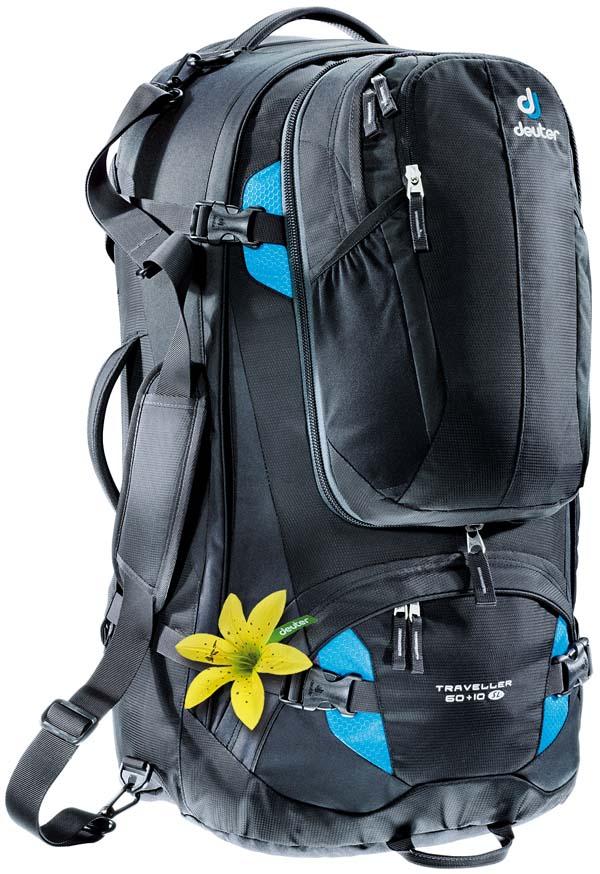Deuter Traveller 60 + 10 SL black-turquoise