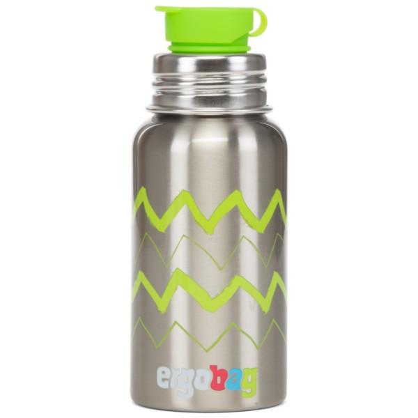 Zickzack - ergobag Pura-Edelstahltrinkflasche 0,5 Liter