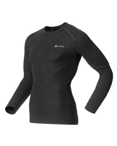 black - Odlo Men Shirt L/s Crew Neck X-Warm