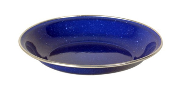 blau - Relags Emaille Teller tief, 20 cm