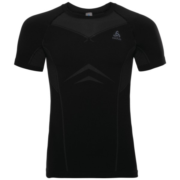 black - odlo graphite grey - Odlo Men Performance Light SUW Top Crew Neck S/S