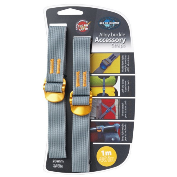 - Sea to Summit Alloy Buckle Accessory Strap 20 mm 1 m yellow