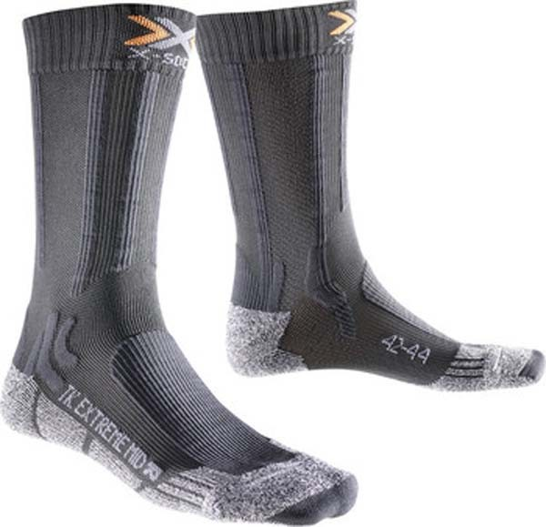 anthracitegrey mouline - X-Socks Trekking Extreme Light Mid Calf
