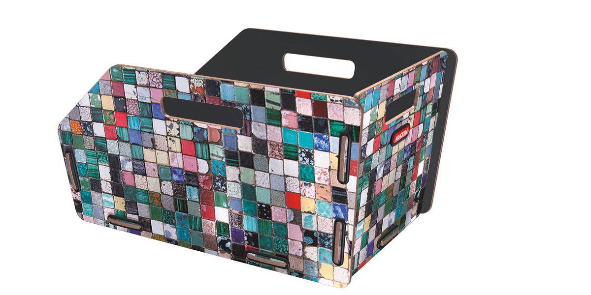 KLICKfix Radkiste 1 für Gepäckträger, GTA mosaik