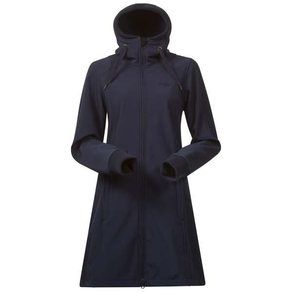 navy - Bergans Vika Lady Coat Sommer-Softshell-Mantel