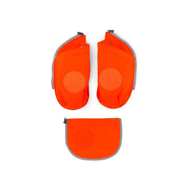 ergobag Cubo Seitentaschen Zip-Set (3-teilig) mit Flaschenhalter Auslaufmodell orange