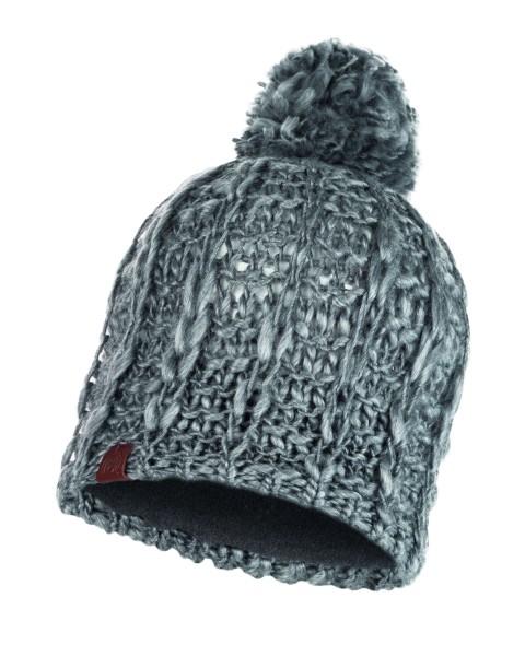 pebble grey - Buff Knitted und Polar Fleece Hat Liv