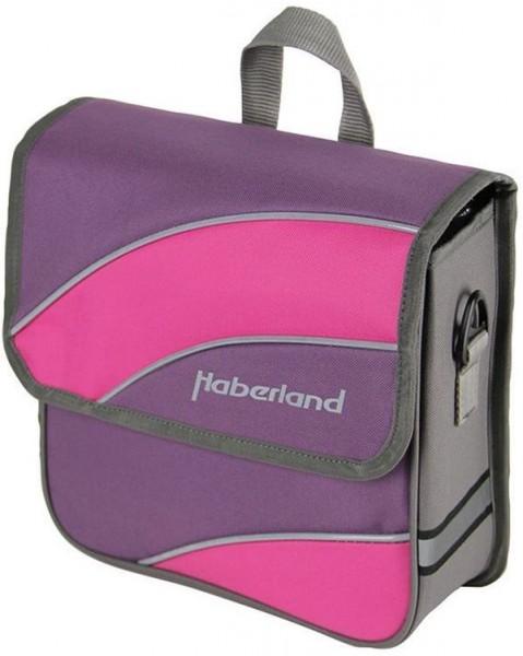 lila/pink - Haberland Einzeltasche Kim S EV1911 für 20-Zoll Jugend- und Falträder inkl. Vario-Haken-Befestigung