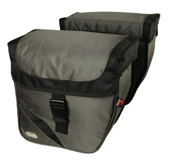 silber - Haberland Doppeltasche Trend L DS3432 Gepäcktr.-System-Adapter passend f. Carrymore u. iRack