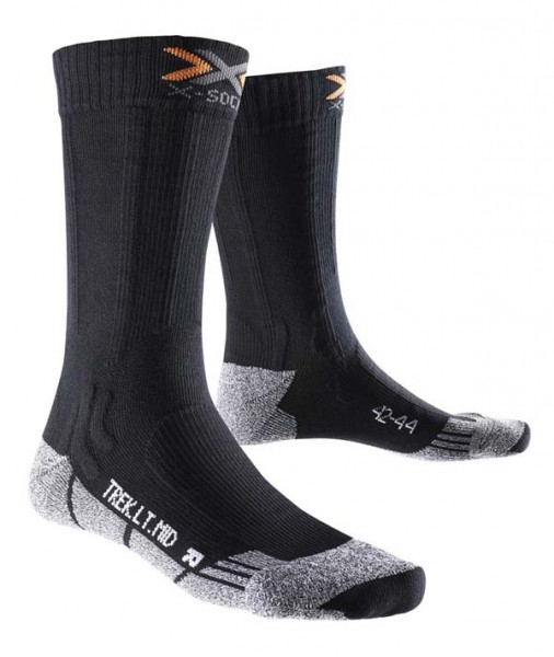 black melange - X-Socks Trekking Light Mid Calf