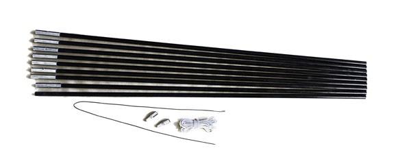 Relags Fiberglasstange 7,75 m x 11 mm, 9 Segmente
