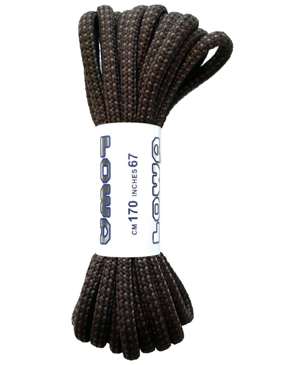 Lowa Schnürsenkel ATC MID 130 cm dunkelbraun/grau