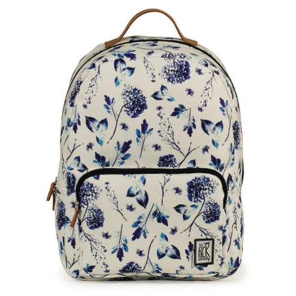 off white blue flower allover - The Pack Society Backpack Cool Prints