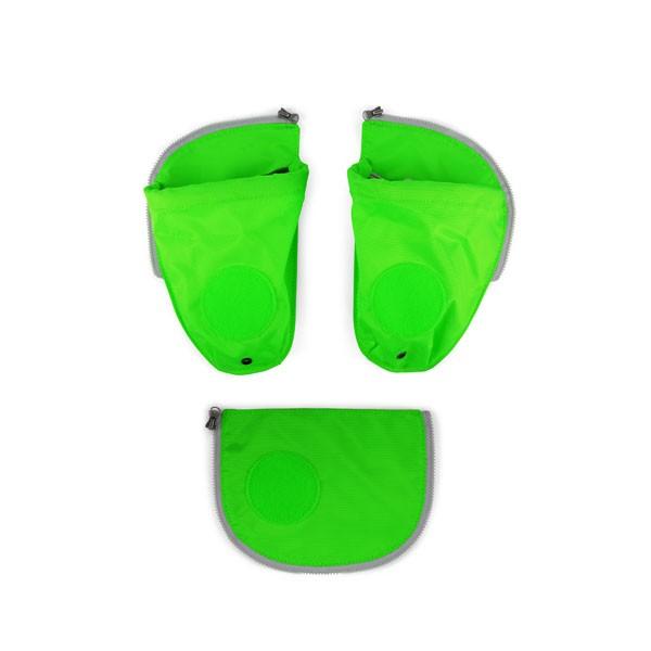 grün - ergobag Pack Seitentaschen Zip-Set (3-teilig) mit Flaschenhalter