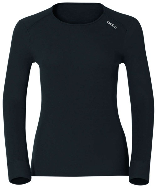 black - Odlo Women Shirt L/s Crew Neck Warm