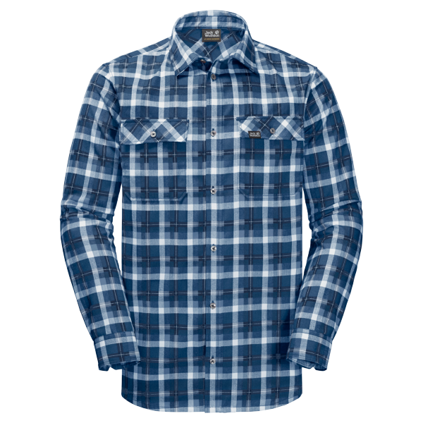 ocean wave checks - Jack Wolfskin Bow Valley Shirt Men