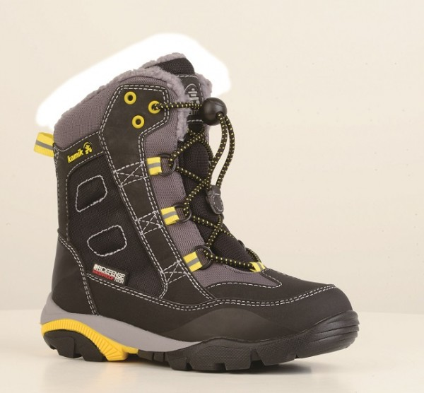 black-noir - Kamik Freerider Kinder Winterstiefel