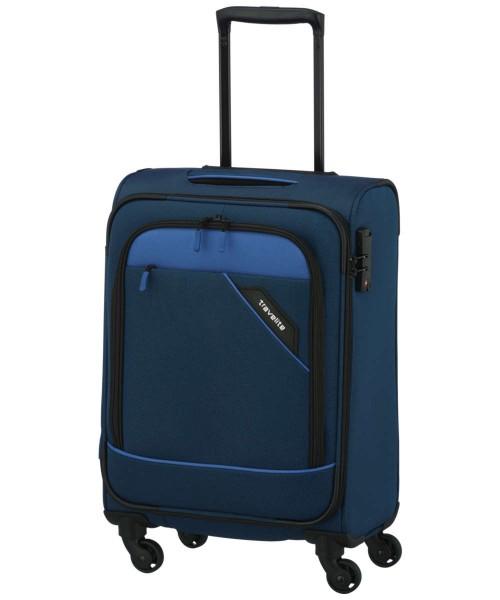 blau - Travelite Derby 4-Rad Trolley S