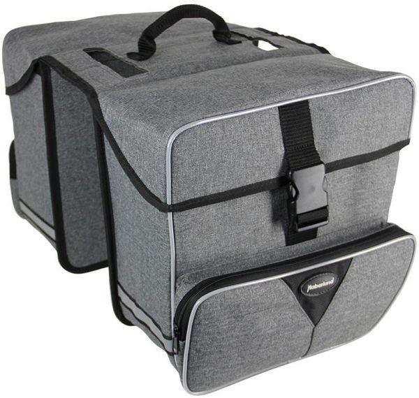 grau - Haberland Doppeltasche Maxi DT9533 31 Liter