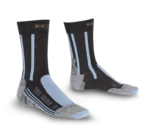 anthracite/azure - X-Socks Trekking Silver Lady