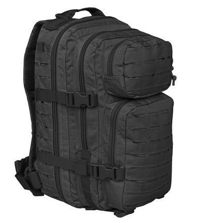 schwarz - Mil-Tec US Assault Pack SM Laser Cut