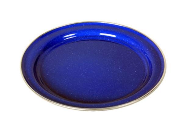 blau - Relags Emaille Teller flach, 26 cm